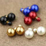 Vintage Pearl Stud Earrings Fashion Golden Earring for Women Summer Style Luxurious Ball Colorful Earrings Fashion Jewelry