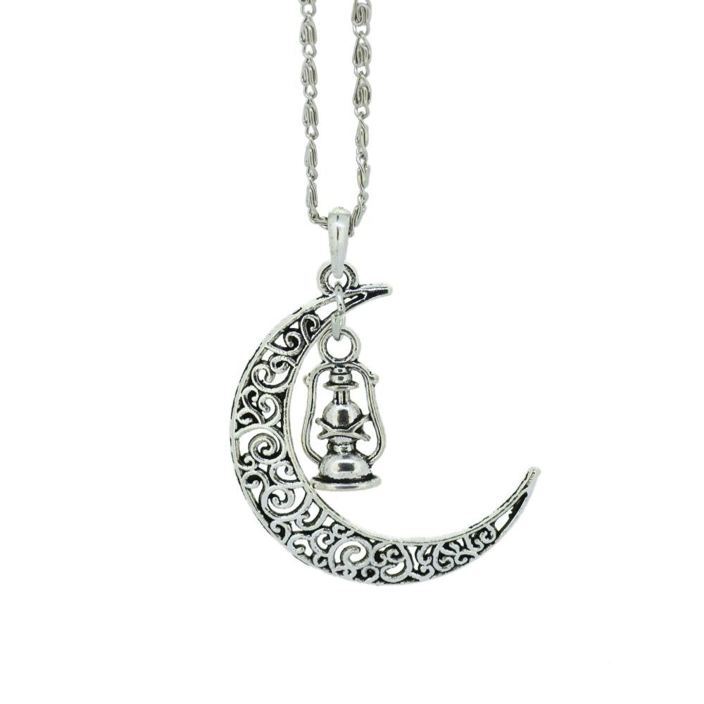 Moon Pendant Necklace Fashion Jewelry vintage Chain Necklace Women Accessories Christmas Gift