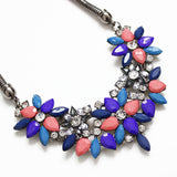 Fashion Necklaces For Women Fabric Acrylic Resin Flower Necklace Collar Statement Necklace Pendant