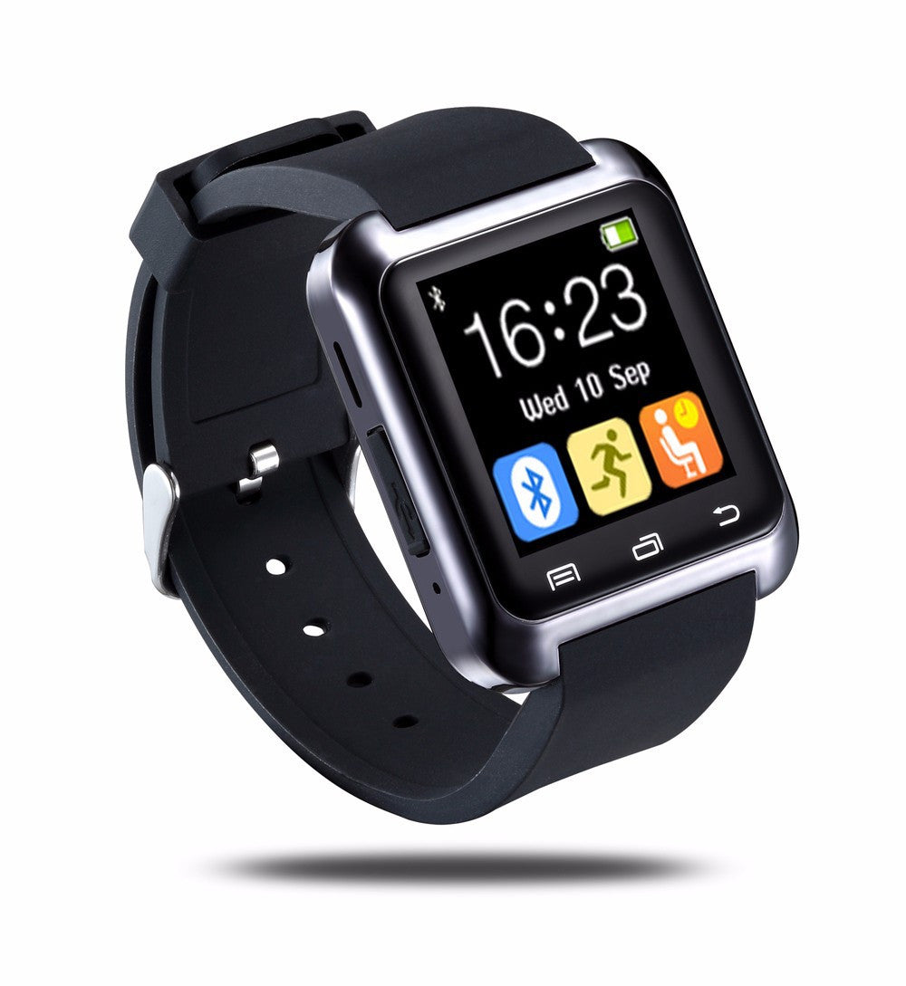 Bluetooth Smart U80 Watch BT-notification Anti-Lost MTK WristWatch for iPhone 4/4S/5/5S Samsung S4/Note 2/Note 3 Android Phone