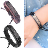 Charm Genuine Leather Bracelets for Women Men Gifts 100% Brand For 4 Colors Bracelets & Bangles Fine Jewelry Christmas Gift