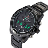 Watches men NAVIFORCE 9024 luxury brand Full Steel Quartz Clock Digital LED Watch Army Military Sport watch