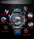 WEIDE Men's Fashion Casual Sports Watch Quartz Digital LED Back Light Military 30m Waterproof Men Watches
