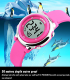SKMEI Children LED Digital Watch Relogio Feminino Sports Watches Kids Cartoon Jelly Relojes Mujer Waterproof Wristwatches