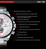 WEIDE Quartz Military Watches Sports Watch,Top Luxury Brand Business Men Watch Water Resistant Digital Watch