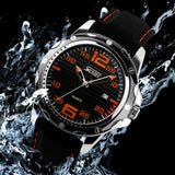Men sports watches men military wristwatches Men silicone strap quartz wristwatch Men's fashion casual watch