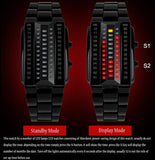 SKMEI 1013 High Quality Fashion Men's Wrist Watch With Calendar Alloy Analog Luxury Watches New binary led wristwatches
