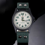 Sanwony New Arrival Vintage Classic Men's Date Leather Strap Sport Quartz Watch