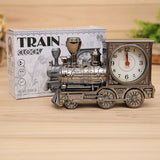 Retro Train Office Desk Alarm Clock Birthday Xmas creative Novelty Gift Home Decor Christmas Gifts