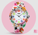 Women's Watches Luxury Brand Casual Quartz Watch Women Dress Wristwatch Female Flower Alloy Case