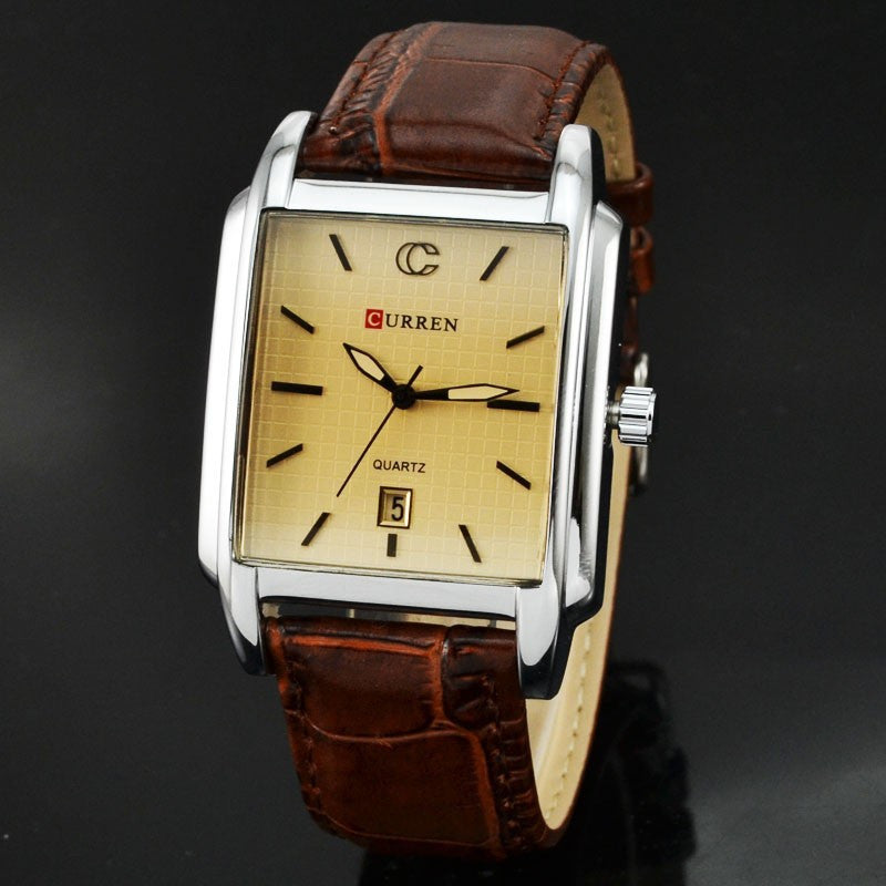 Casual Curren Men Military Watches Male Clock Fashion Quartz Watch Men Clock Hour Dial Date Leather Men Wrist Watch