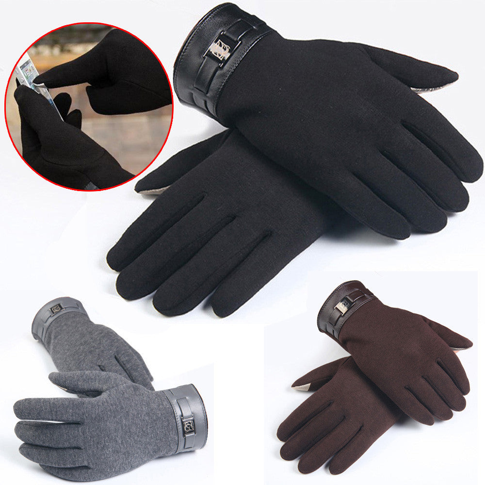 Fashion New Winter Warm Men's Gloves/Mitten ipad/iphone Touch Gloves Plus Velvet Drive Gloves