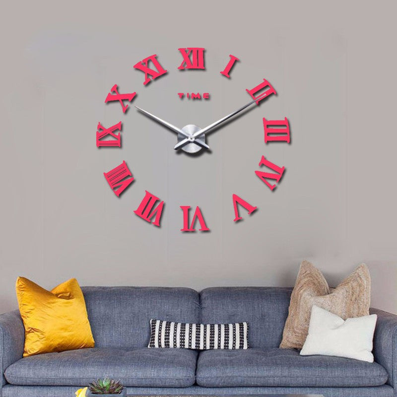 Hot fashion quartz watch home decor 3d big mirror diy real wall clock modern design room gift