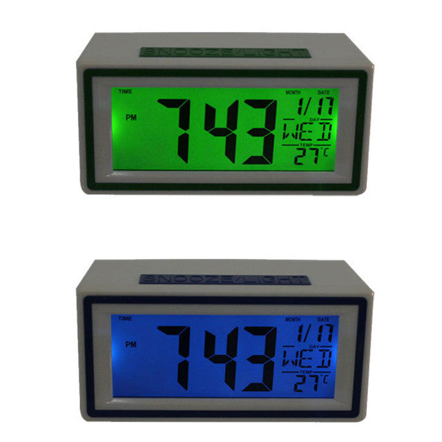New Fashion alarm clock Creative Smart Clock LED Snooze Alarm Calendar Temperature New To-Better