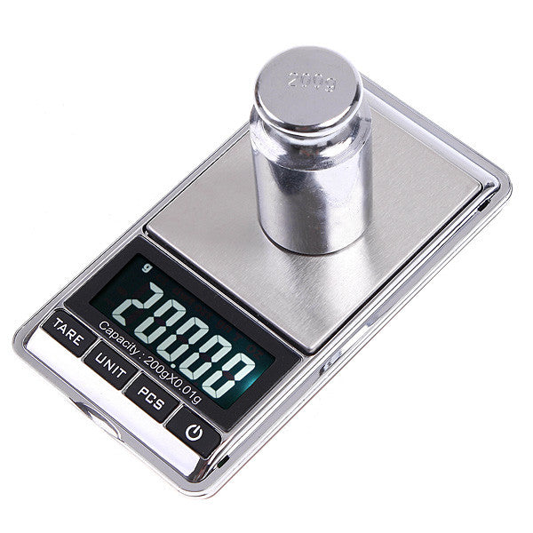 Mini Digital Scale 0.01g Portable LCD Electronic Jewelry Scales Weight Weighting Diamond Pocket Scales 200gx0.01g