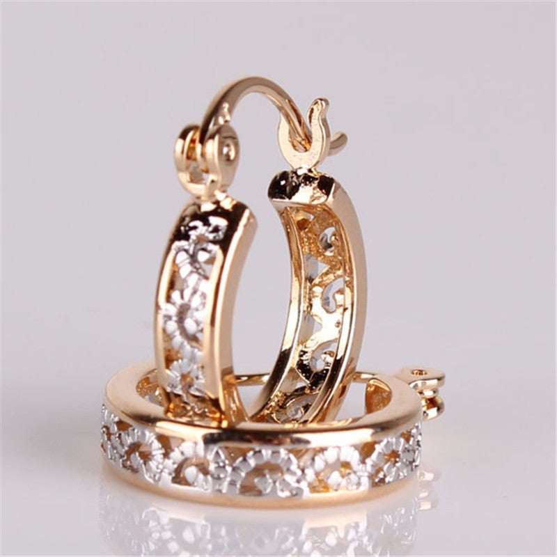 Fashion Classic Hollow Out Round Hoop Earring For Women High Quality Brinco Earings Ladies Jewellery