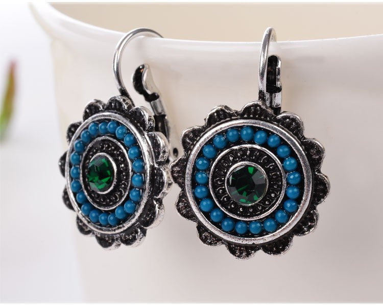 New Ethnic Jewelry Charming Vintage Resin Beads Drop Earrings For Women Fashion Earring