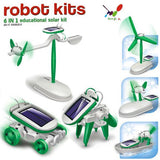 Solar Toys Brinquedos DIY Solar Kits toys 6 in 1 Educational Toys for children Model building