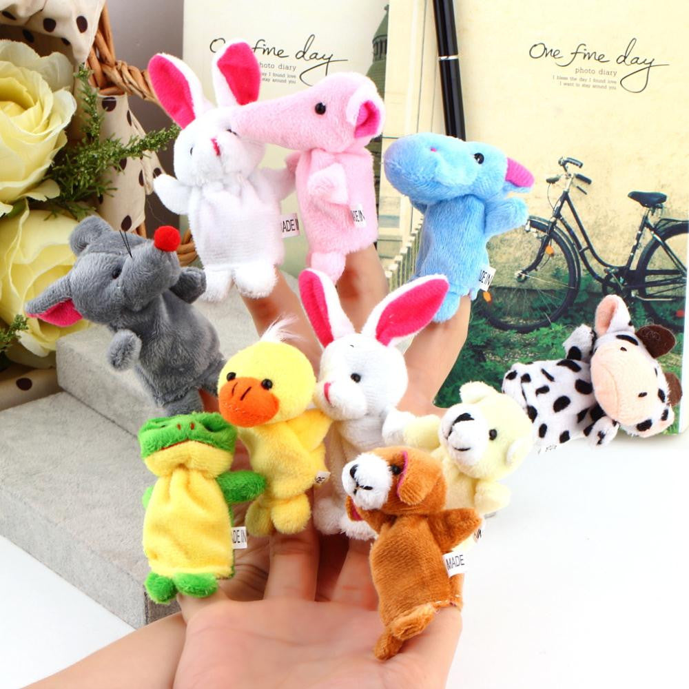 Cartoon Animal Finger Puppet,Finger Toy,Finger Doll,Baby Dolls,Baby Toys,Animal Doll-10pcs/lot