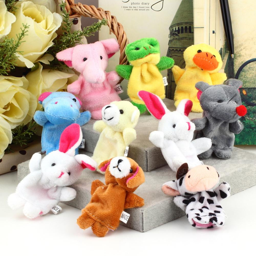 Cartoon Animal Finger Puppet,Finger Toy,Finger Doll,Baby Dolls,Baby Toys,Animal Doll-10pcs/set