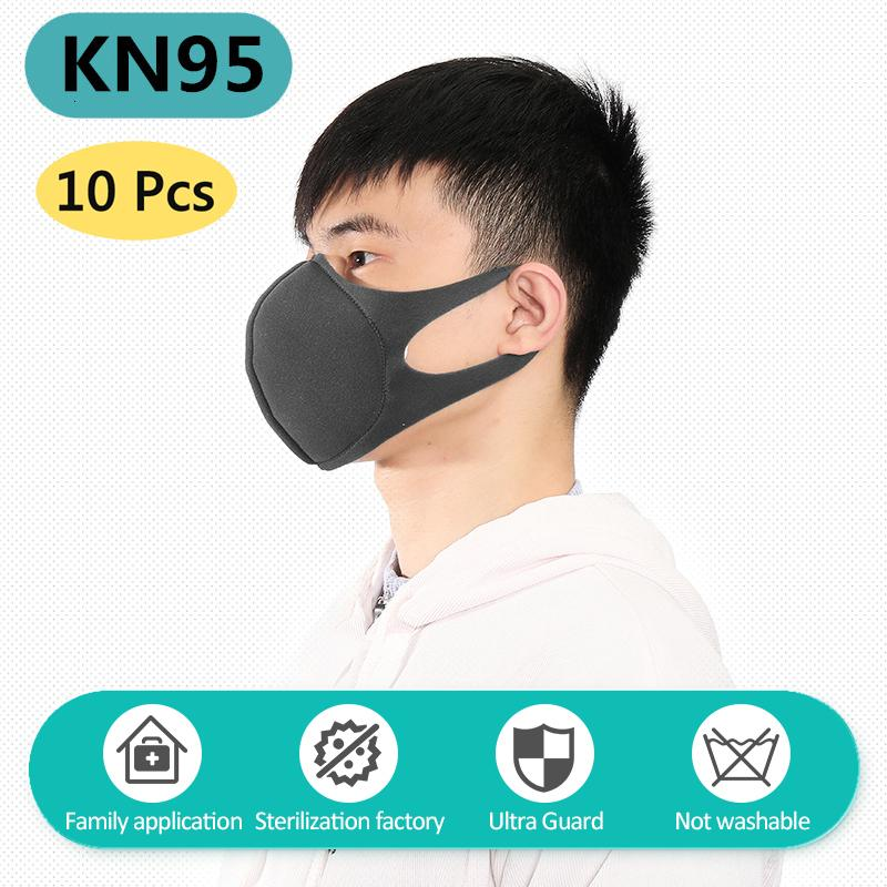 10 pcs/bag KN95 CE Certification Dust Respirator Mask Pad Against Pollution Breathable Mask Non-woven Fabric Face Mask