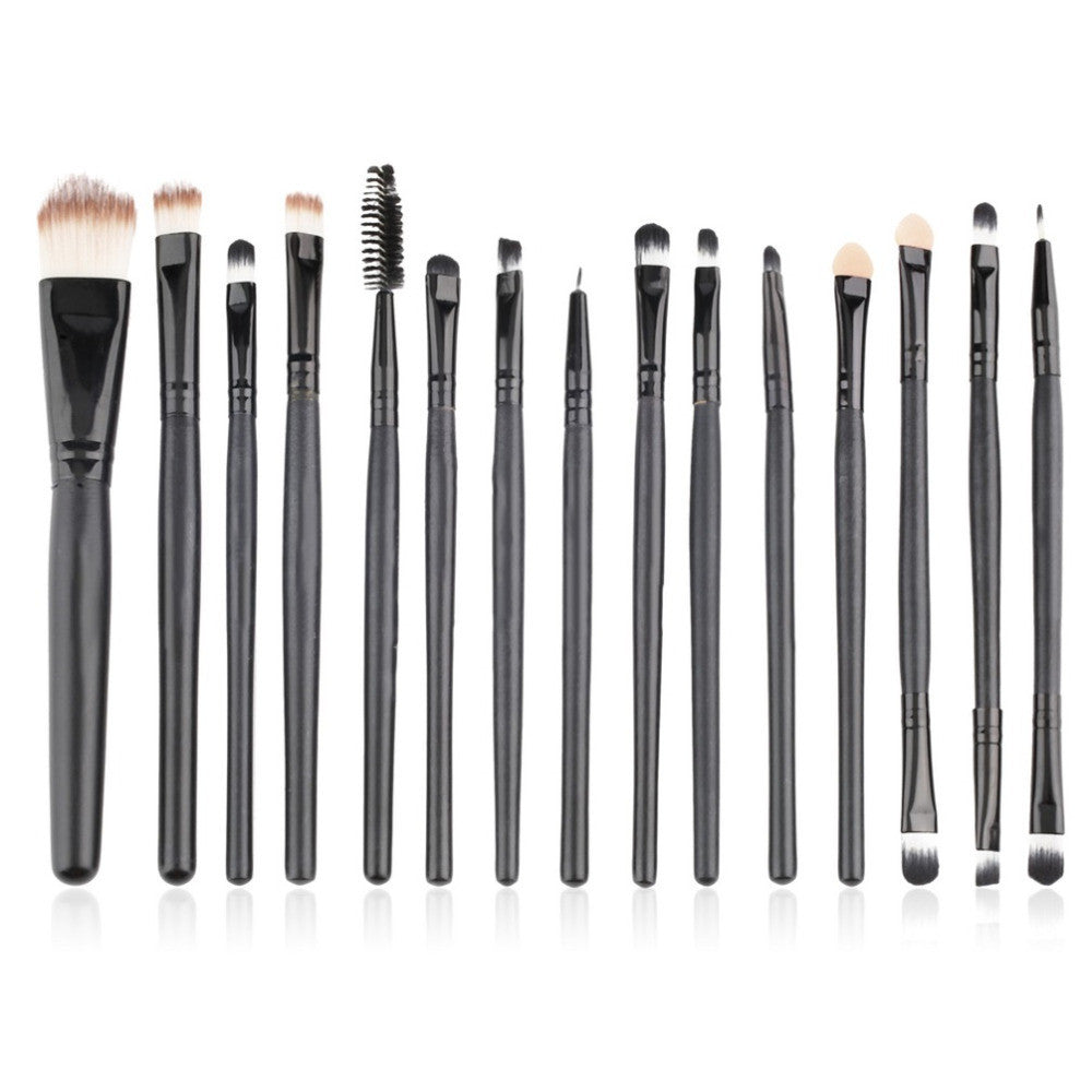 Eye Shadow Foundation eyeliner Eyebrow Lip Brush Makeup Brushes set Tools cosmetics Kits beauty Make Up Brush Set-15pcs/Set