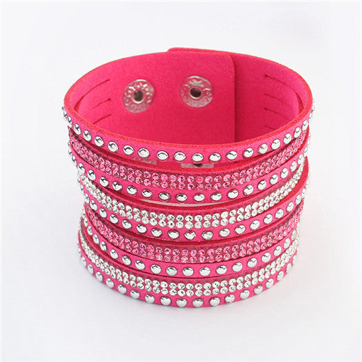 Multilayer Leather Bracelet Christmas Gift Charm Bracelets Vintage Jewelry For Women Pulsera