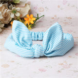 Children Hair Accessories Lovely Bunny Ear Baby Headbands Elastic Fashion Soft Toddler scrunchy Bow Knot Girls Headband