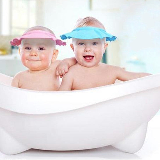 Soft Baby Kids Children Shampoo Bath Shower Cap Adjustable Baby Shower Hat  Baby Shampoo Cap Wash Hair Shield 584b87e0ebd4