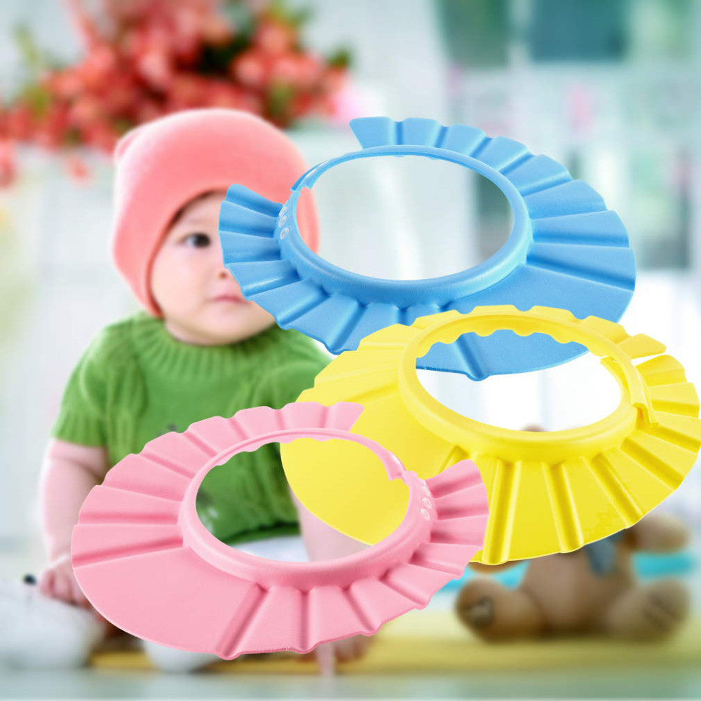 Adjustable Convenient Baby Child Kids Shampoo Bath Shower Cap Hat Wash Hair Shield
