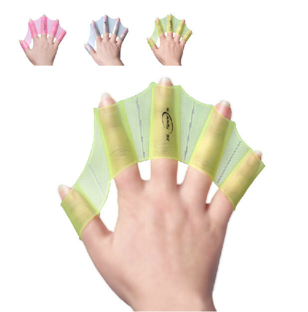 New Silicone Swimming Web Swim Gear Fins Hand Flippers Training Glove 2 colors 3 sizes swimming gear-PY