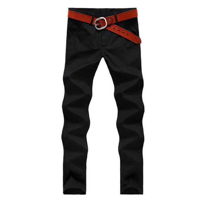 Hot-selling Men's Fashion Korean Style Slim Fit Pants Male Casual Mid-Rise High Quality Pants