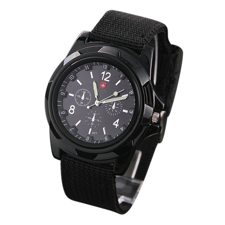 Men's Sports Watch Analog free Watches Alloy dial 4colors military watches Fabric Strap Casual watch