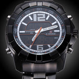 New Brand NAVIFORCE Men Watches Top Brand Luxury Full Steel Men Business Watches Analog Digital LED Watch