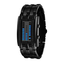 Fashion Men and Women watch Unisex Black Dial Metal Band Quartz Analog Water Resistant Sport Wrist Watch