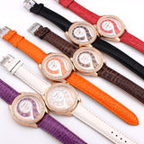 Women Dress Watches Ladies Quartz Watch Alloy Analog PU Band Rhinestone Wristwatches