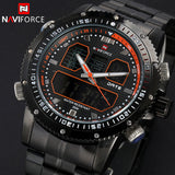 New NAVIFORCE Men Watches Top Brand Luxury Full Steel Analog LED Digital Watch Men Quartz Military Watch Sports Wristwatch