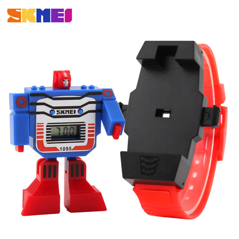 SKMEI Kids LED Digital Children Watch Cartoon Sports Watches Relogio Relojes Robot Transformation Toys Boys Wristwatches