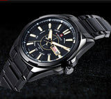 NAVIFORCE 9034 luxury brand Full Steel Quartz Clock dive 30M Casual Army Military Sport watch