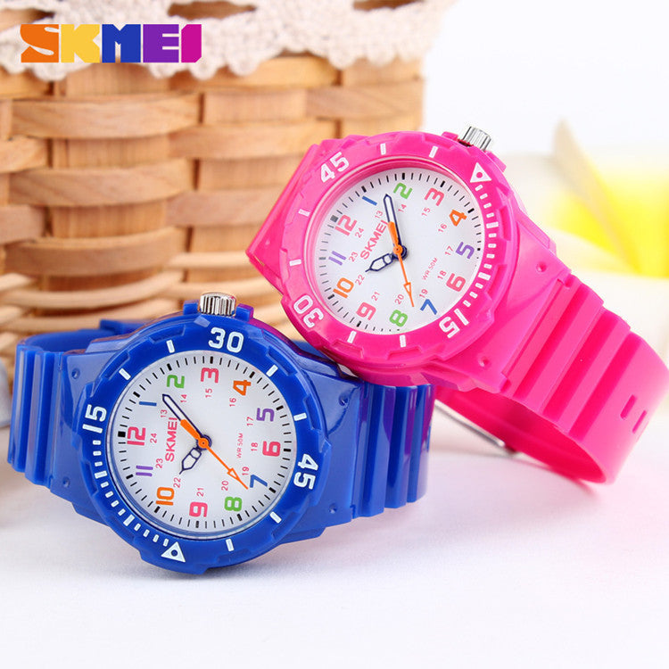 Children Watch Fashion Skmei 1043 Brand Watches Quartz Wristwatches Waterproof Jelly Kids Clock boys girls Students Wristwatch