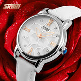 SKMEI Quartz Watch Women Watches Relogio Feminino Relojes Mujer Women's Leather Dress Fashion Brand Waterproof Wristwatches