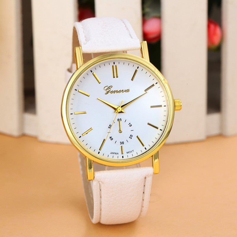 Fashion Geneva Watch Women Wristwatch Cow Leather Casual Watch Analog Quartz Watch Women Dress Watch Relojes Clock