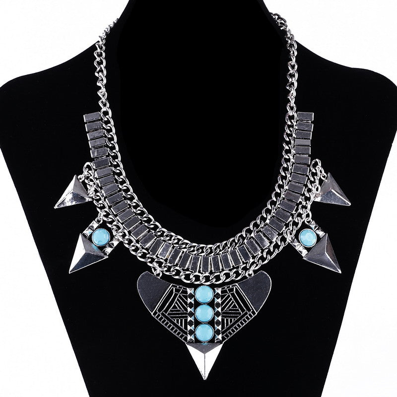 Fashion Vintage Choker Collares Necklaces & Pendants Black Element Statement Necklace Maxi Collier Necklace