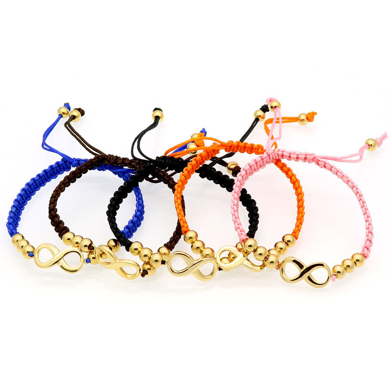 Fashion Luxury Brand Jewelry Nylon Rope Beautiful Gold Bracelet Fine Jewelry Heart-shaped Bracelet For Woman