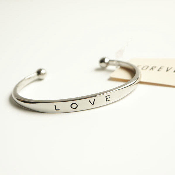 Love Bracelet Simple Europe Style Zinc Alloy Bracelets For Women Bangles material Bracelet simple love Bracelet female