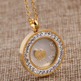 Fashion 316L Stainless Steel Crystal Pendant Jewelry fashion necklaces for women