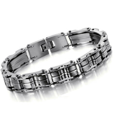 316L Stainless Steel Bracelet JEWELRY STAINLESS STEEL BRACELET Men Bracelet Silver color 23CM Men gift