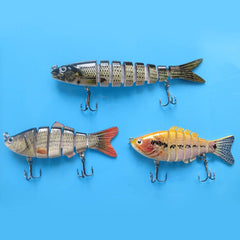 3PCS Fishing Lure 6 Segment 7 Segment 8 Segment Swimbait Crankbait Hard Bait Slow Fishing Tackle