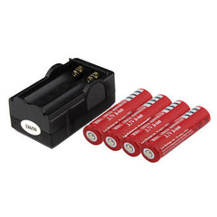 4PCS Battery 18650 Dual Wall Charger 4000mAh 3.7v Rechargeable Battery + Travel Dual Charger