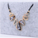 New Statement Choker Vintage Charms Geometric Women Collar Rhinestone Crystal Gem Necklaces&Pendants Fine Jewelry